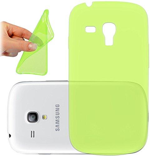 OneFlow PREMIUM - AERO-CASE aus transparentem Silikon (Ultra Slim) - für Samsung Galaxy Trend / Trend Plus (GT-S7560 / GT-S7580)) - GRÜN