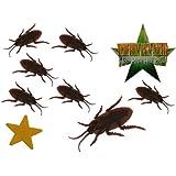 Deko Stern mit 8 Kakerlaken - Ich bin ein Star - holt mich hier raus - Dschungelcamp - für Party Dekoration lustig eckelig Dschungelprüfung