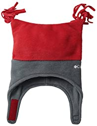 Columbia Baby Boys\' Pigtail Hat, Bright Red/Graphite, One Size