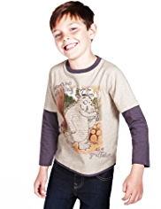 Cotton Rich Mock Layer Sleeve Gruffalo T-Shirt