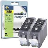 2 Cartouches d'encre Compatibles pour Imprimante Canon Pixma MP610 - Noir- Avec Puce