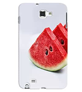 Fuson Premium Water Melon Printed Hard Plastic Back Case Cover for Samsung Galaxy Note 1 i9220 N7000