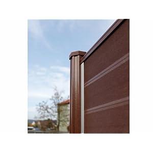 preisvergleiche wpc terrasso sichtschutzzaun bausatz lamellenzaun zaun in braun anthrazit oder. Black Bedroom Furniture Sets. Home Design Ideas