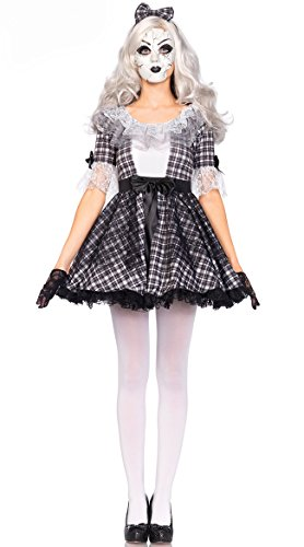 [NonEcho Western Scary Broken Doll Costume Halloween Kit Adult] (Broken Doll Costume For Adults)