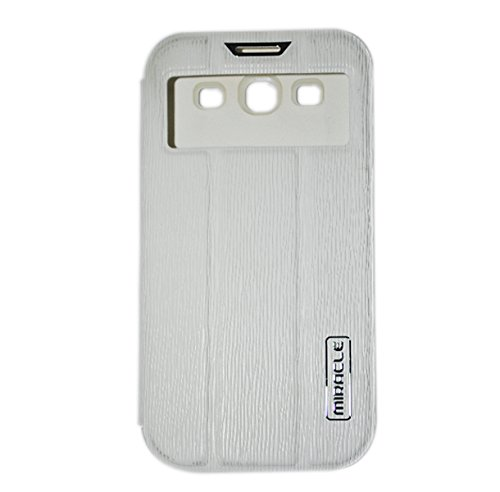 MIRACLE WHITE Flip Cover For SAMSUNG GALAXY S3 I9300/I9301i