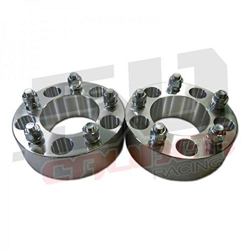 One Pair (2) Wheel Spacers 5 x 5 (5 x 127mm) - 1.5 inch thick - Wrangler, Rubicon, Commander, Cherokee, Chevy and GMC 1/2 Ton 2wd Trucks, Astro and G20 Vans [5284-A7] (Chevy 5x5 Rims compare prices)