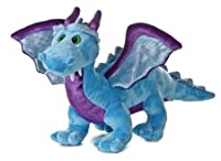 "Aurora Plush 14"" Blue Dragon with sound by Aurora Plush"