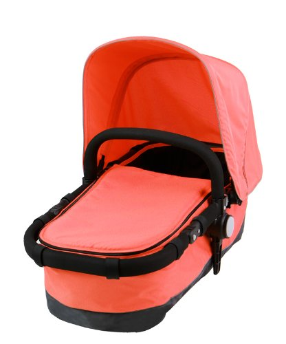 Dream On Me Acrobat Multi Terrain Stroller and Bassinet, Hot Coral - 1