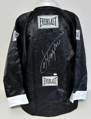 Joe Frazier Autographed Black Everlast Boxing Robe JSA Holo