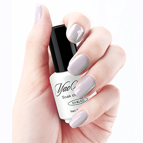 Yaoshun-Soak-Off-Gel-Nail-Polish-UV-LED-Lacquer-Classic-Gray-Series-Color-Nail-Art-8ml