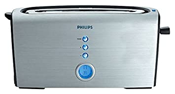 Philips Pure Essentials Collection HD2618 Aluminium 1200-Watt Pop-up Toaster