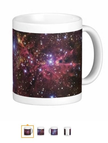 0036* Galaxy Nebula Mug - Custom 15 Oz Coffee Cups - Dishwasher And Microwave Safe