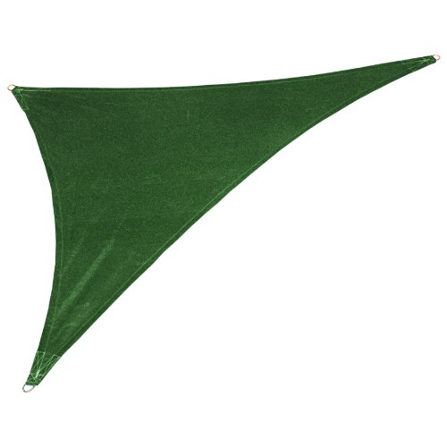 coolaroo custom triangle shade sail brunswick green 12 by 12 by 17