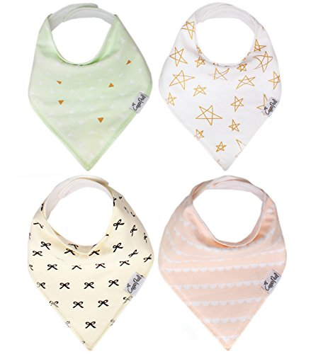 Baby Bandana Drool Bibs for Drooling and Teething 4 Pack Gift Set For Girls