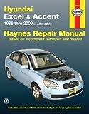 Hyundai Excel & Accent Haynes Repair Manual (1986-2009)