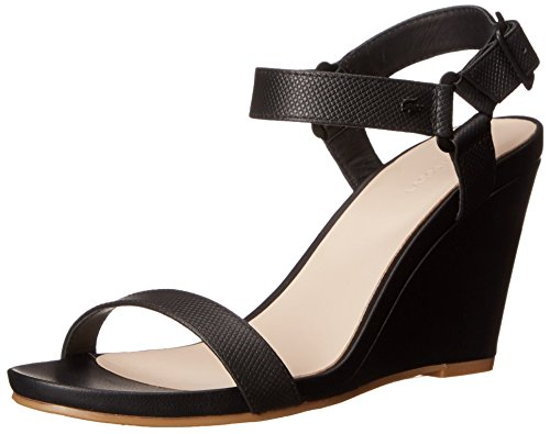 Lacoste Women's Karoly Wedge Sandal, Black, 8 M US