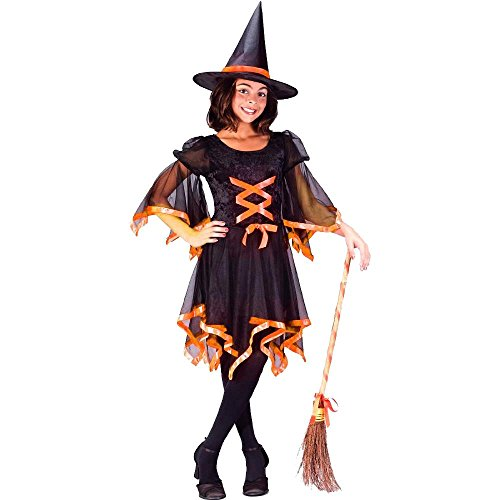 Child's Ribbon Witch Costume (Size:Medium 8-10)