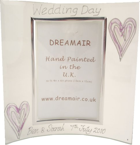 PERSONALISED Wedding Day Gift Silver/Lilac Hearts