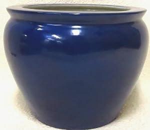 Cobalt blue porcelain fish bowl 20 home for Fish bowl amazon