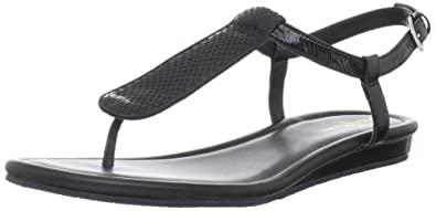 Cole Haan Women's Molly Thong Sandal,Black Patent/Snake Print,8.5 B US