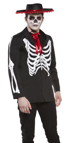 Lip Service Day of The Dead Goth Punk Skeleton Mens Halloween Costume