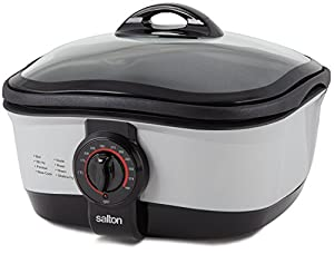 Salton 9 in 1 Multi Cooker, 5-Litre, Black/Silver