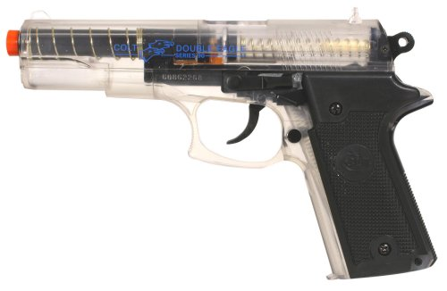 Spring-powered airsoft guns