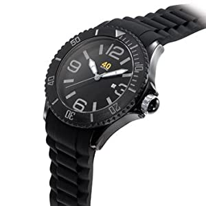 40Nine Extra Large 50mm Black & Grey Watch