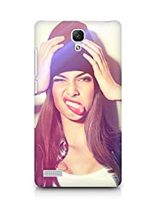 Amez designer printed 3d premium high quality back case cover for Xiaomi Redmi Note Prime (Girl hat pose photoshoot)