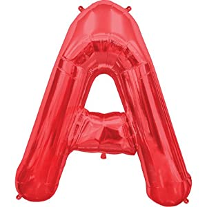 Amazoncom red letter a 34 inch foil balloon toys games for Foil letter balloons amazon