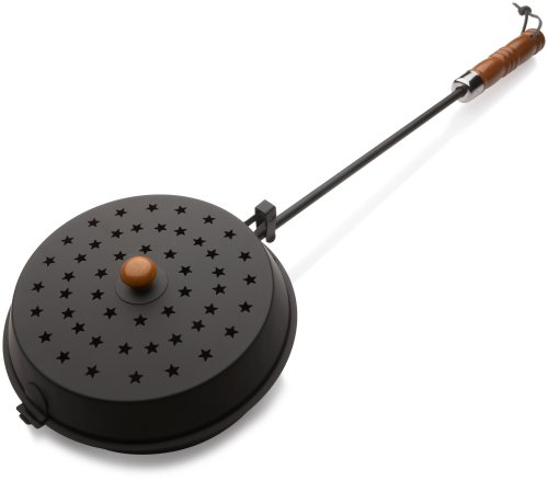 Rome's Chestnut Roaster and Fireplace Popcorn Popper, Steel with Wood Handle