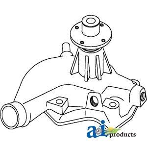 AR45340 Water Pump Fits John Deere