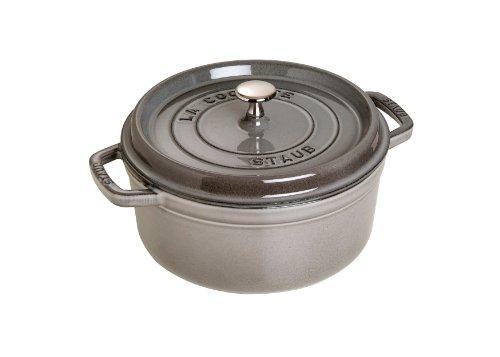 Staub 1102618 Round Cocotte Pot, 26 cm, Graphite Grey