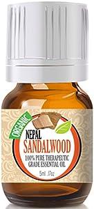 Sandalwood (Nepal) (Organic) 100% Pure, Best Therapeutic Grade Essential Oil - 5ml
