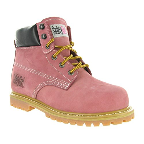 Safety Girl II Steel Toe Waterproof Womens Work Boots – Light Pink
