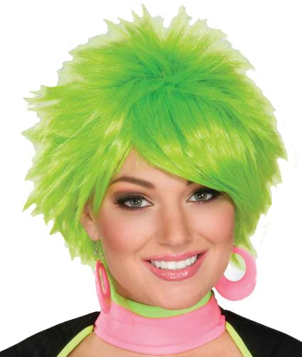 Forum 1980's Pixie Wig  Green, One Size