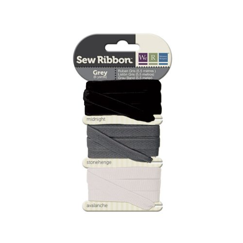 We R Memory Keepers Sew Ribbon, Grey front-160059