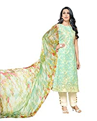 Lebaas Cotton Embroidered Salwar Suit Dupatta Material(Un-stitched)