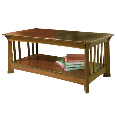 MILLER - Solid Wood Coffee Table - Mahogany