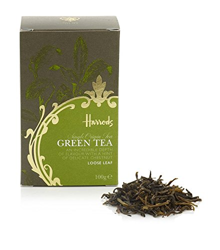 Harrods London. Green Tea, Loose Leaf Tea 100g (1 Pack) - USA Stock -product ID 554gtha (Green Tea British compare prices)