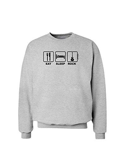 Tooloud Eat Sleep Rock Design Sweatshirt - Ash Gray - 3Xl