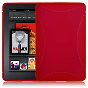Shop4 Red Hydro Gel X-Grip Skin Cover Case For Amazon Kindle Fire Tablet