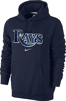 Nike Tampa Bay Rays Baseball MLB Wordmark Applique Logo Fleece Pullover Hoodie