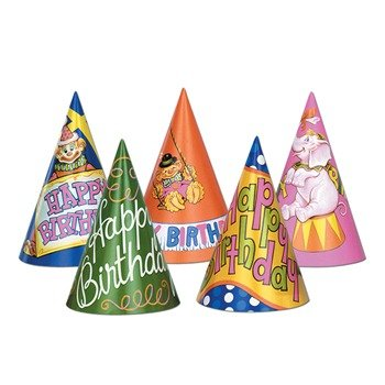 Happy Birthday Hats (asstd designs) Party Accessory  (1 count)