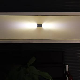 yorbay led wandleuchte up down 2w innen wandlampen warmwei design flurlampe aluminum netzteil. Black Bedroom Furniture Sets. Home Design Ideas