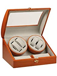 Rothenschild Accessories RS-198-4 B Watch Winder For 4 Watches Cherry 2 Cushion sizes