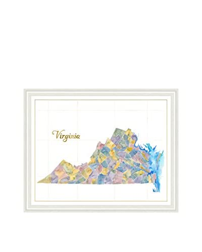 Art Source Watercolor Virginia Map