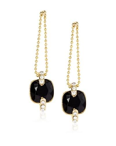 Chamak By Priya Kakkar Black Swarovski Drop Earrings