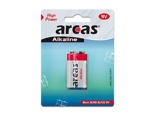 Arcas Pile Alcaline 9V Block (1 Pce)