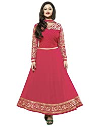 Madhav FashionSemi-stitched Salwar Suit Dupatta Material in Red